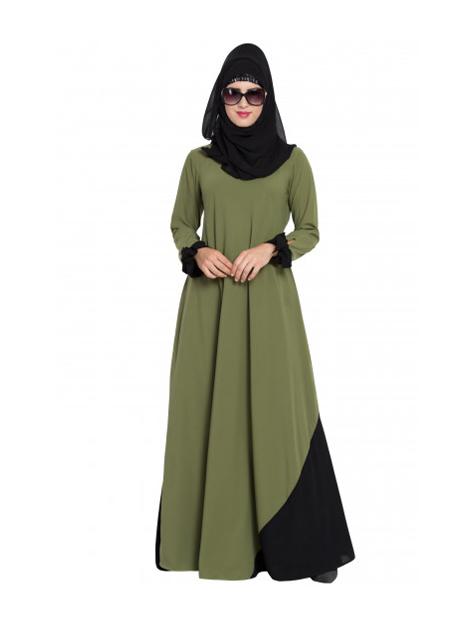 Black And Green Abaya