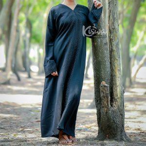 black abaya with Nida